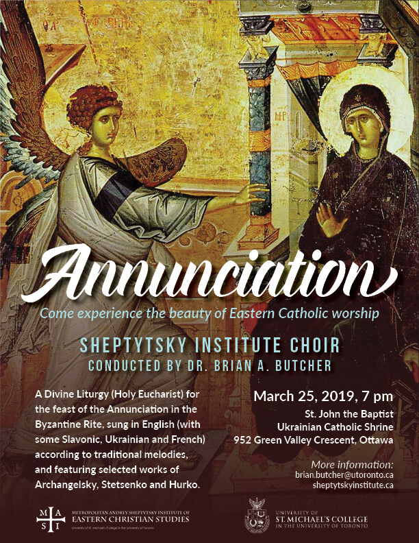 Divine Liturgy for Annunciation featuring Sheptytsky Institute Choir