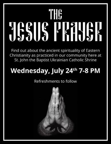 Post Festival Outreach: The Jesus Prayer Event